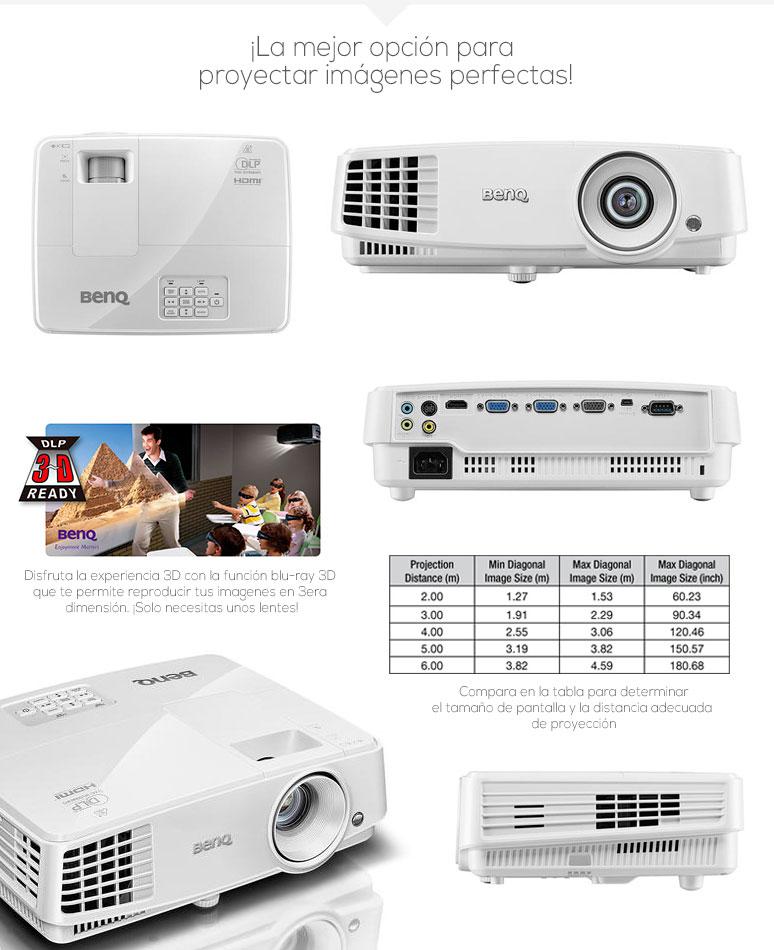 Alquiler Proyectores - Benq-Proyector-Cañon-MS524-videoHD3D-3000lumens-lamparalargaduracion-8Mproyeccion-fotos-1
